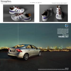 Volvo Print campaign 3d elements